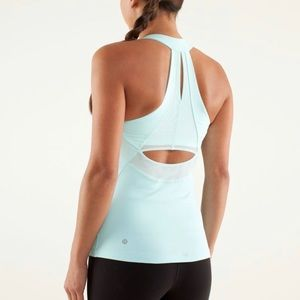 Lululemon Run Make It Count Tank Top Aquamarine